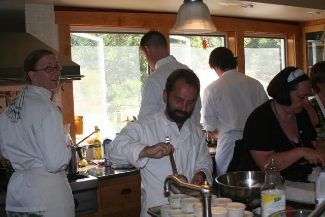 Creating a banquet with fellow chefs as part of a big celebration