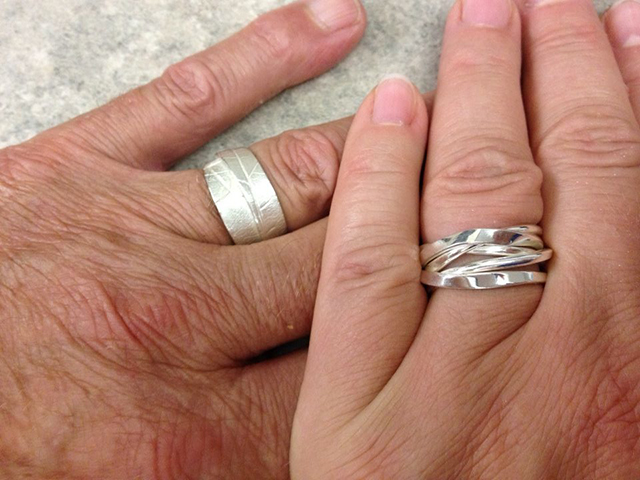 Robert's MapleWrap and Alexandra's Onefooter ring