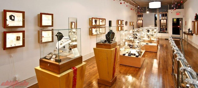 The beautiful Influx Jewellery Gallery in Calgary