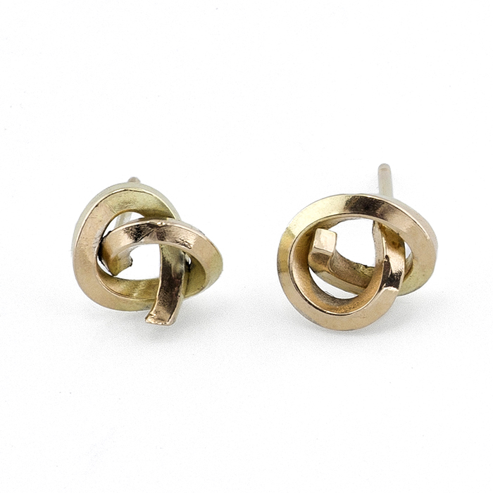 Gold Earrings Knot 18k Yellow Gold