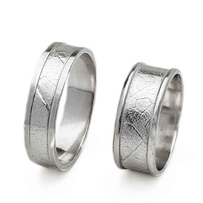 MapleLeaf Rings - 14k White Gold