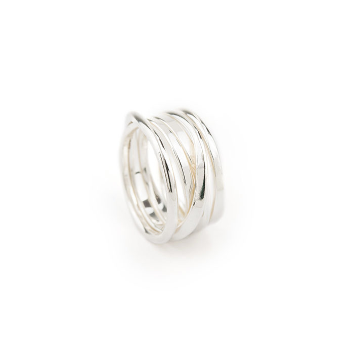One Footer Ring Sterling Silver