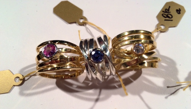 The sapphire rings, and a diamond one, in my case at the show