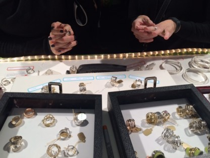 Trying on rings