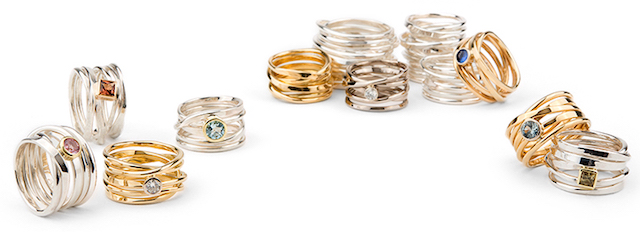 Varieties of OneFooter Rings in Gold and Silver