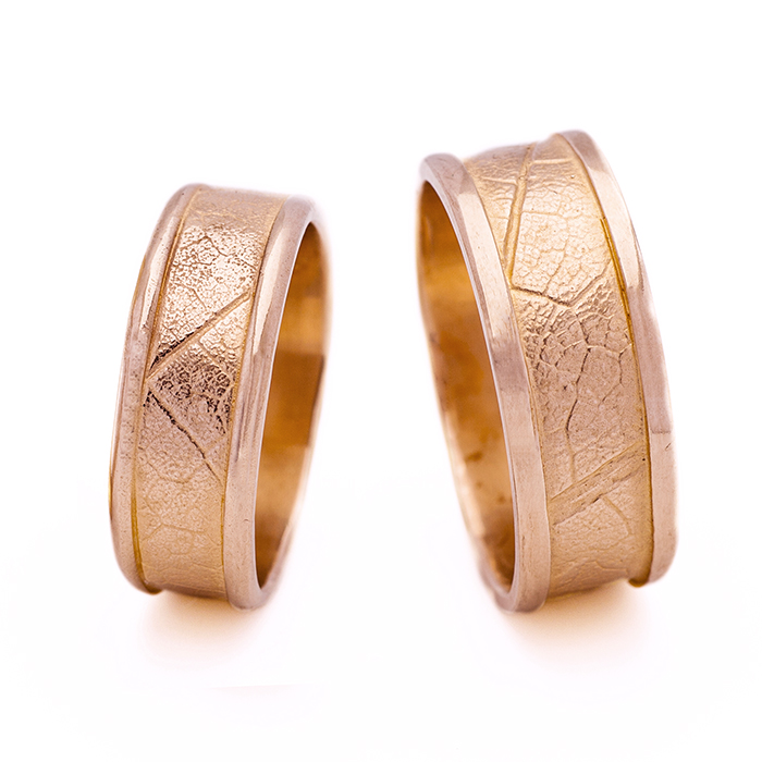 MapleLeaf Rings - 18k Rose Gold