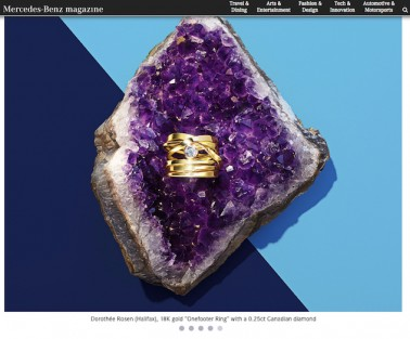 This lovely shot of my Onefooter ring in 18k with diamond was created by photographer MICHAEL CRICHTON, and stylist SERGE KERBEL