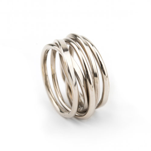 Onefooter Ring in 18K Palladium White Gold