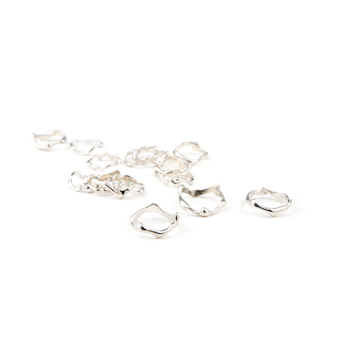 BRANCH Midi Rings in Sterling Silver