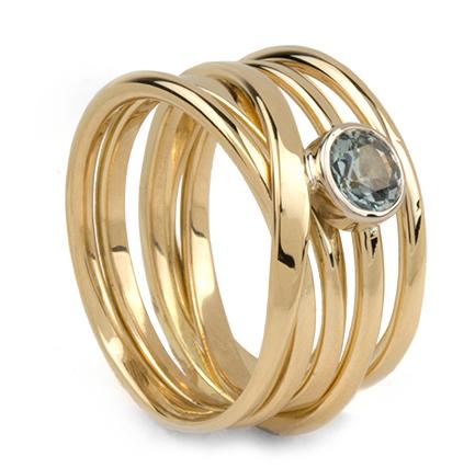 One of a kind doroth e rosen designer goldsmith for Mercedes benz 18k gold ring