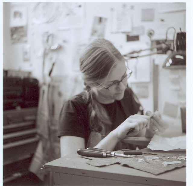 At my bench in 2007. Photo by Paige Littlefair