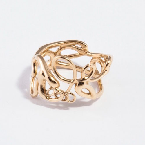 Script Ring in 18k Yellow Gold