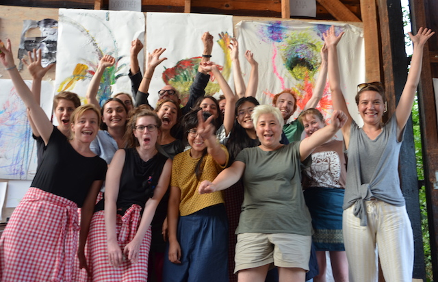 This photo was taken at the end of the workshop, and carries the relevant sense of celebration