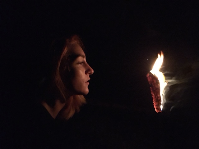 My daughter particularly enjoyed our bonfire at the beach
