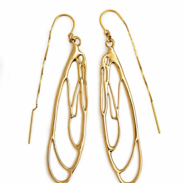 Dragonfly Earrings in Gold