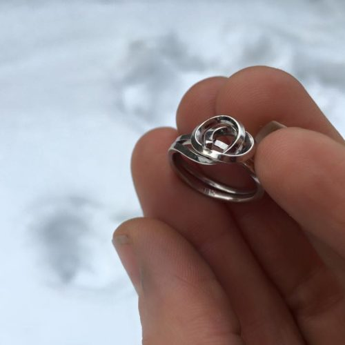 KNOT Ring in Palladium White