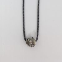One footer palladium white gold necklace
