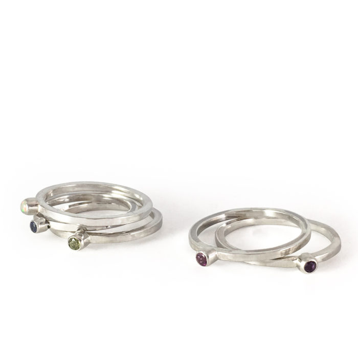 birthstone stackers