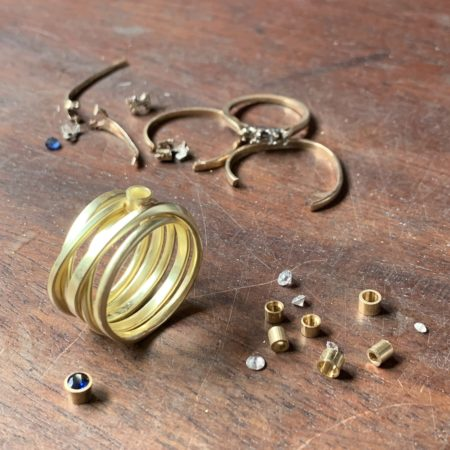 Re-birth Rings: making your old jewellery into a new custom piece
