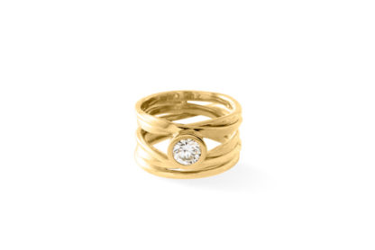 Expert Advice FAQ Dorothée Rosen Finished Ring Onefooter 18k Gold with Diamond