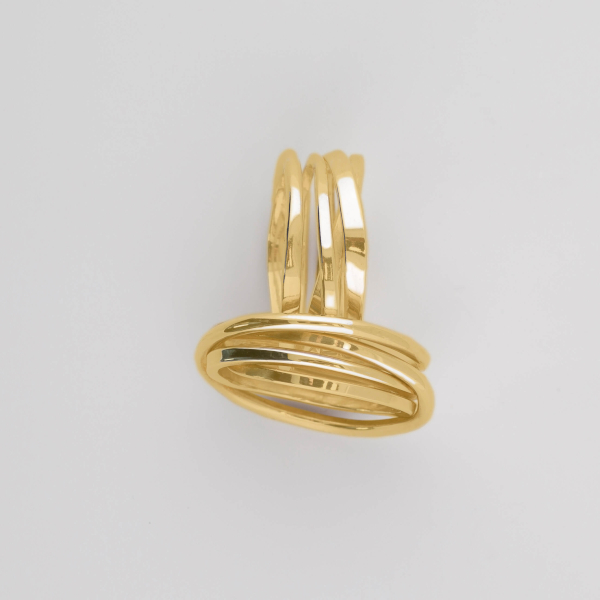 Handmade Onefooter Ring Mini 18k Gold
