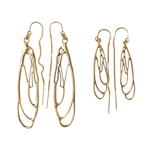 Dragonfly Earrings in Gold Large & Small