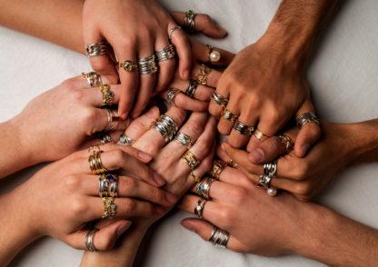 DorothéeRosen BlingJam Canadian Silver and Gold Rings Try On Pickbox
