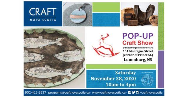 Craft NS Popup Show Nov 2020