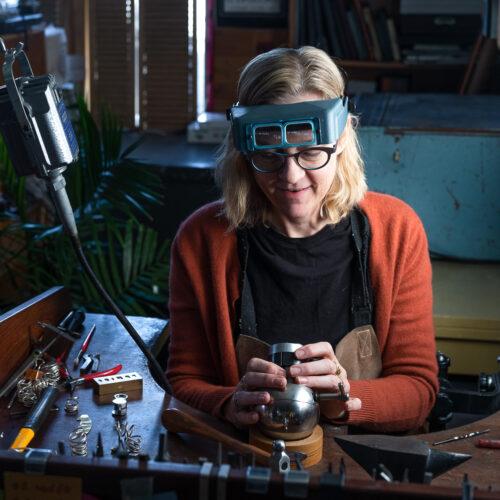 Dorothee Rosen Profile - Working in her Halifax Goldsmith Studio Making Handmade Jewellery