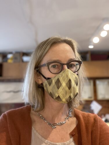 Dorothee Rosen Profile N95 Mask Covid Precautions Goldsmith Handmade Jewellery Studio
