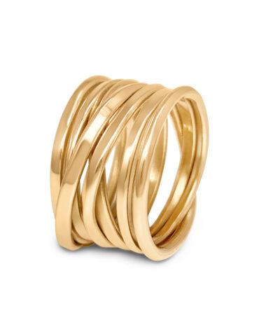 DorotheeRosen OneAndAHalfFooter Ring in 18k Gold