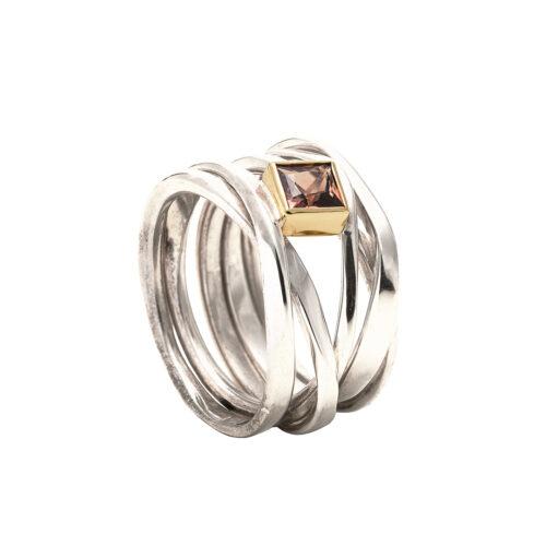 cognac sapphire ring
