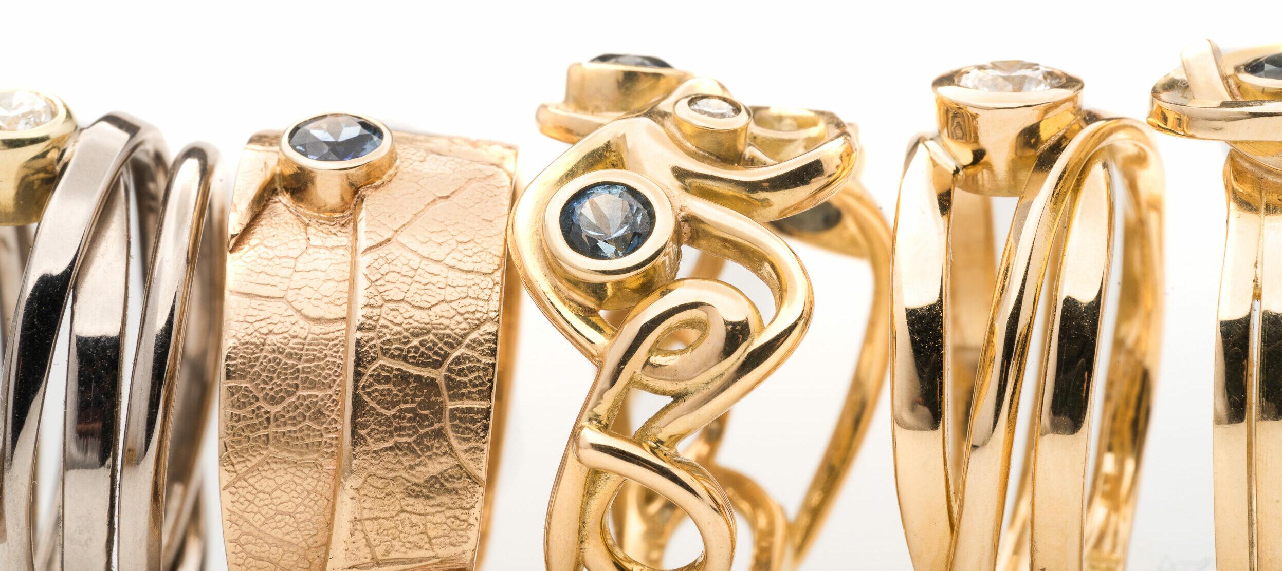 Dorothee Rosen Gold Bling Custom Gold Rings Jewellery