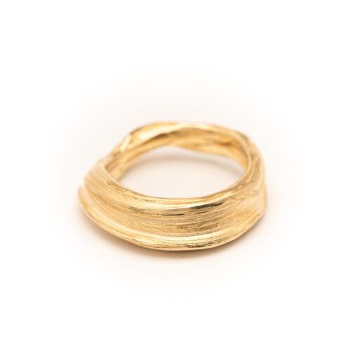 DorotheeRosen 18k Ethical Fairmined ECO Gold Flow Ring 03