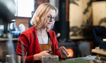 Dorothee Rosen - Working in her Halifax Goldsmith Studio Making Handmade Jewellery