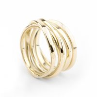Onefooter Ring in 18K Yellow Gold